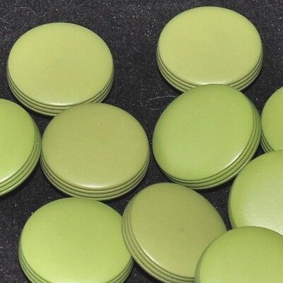 Mercerie lot de 5 boutons palets plastique vert 18mm button