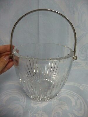 "Beautiful Pre-Owned Baccarat ""massena"" Crystal Ice Bucket"