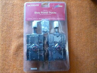 Bachmann G Scale Shay Replacement Trucks With Motors, Pair New In Packing Metal