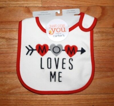 Carter's Just One You Mom Loves Me Baby Teething Bib NEW