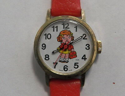 Vintage 1982 Campbell's Soup Co. Watch with Red Band - Girl/Kid