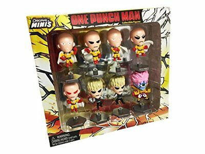 One Punch Man Saitama Exclusive Mini Collectible Action Figure Box Set of 8