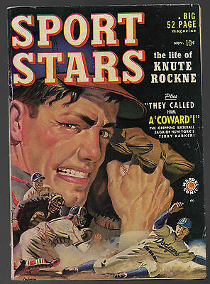 Sports Stars #1....Marvel Comics 1949....Knute Rockne....VG