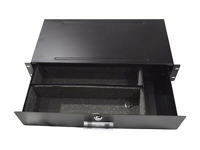"2Ru 19"" Metal Rack Shallow Effects Drawer"