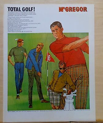 1967 magazine ad for McGregor clothes - Total Golf! designed for Bruce Crampton
