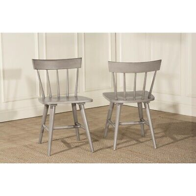Hillsdale Mayson Spindle Back Dining Chair (Set of 2), Gray - 4552-803