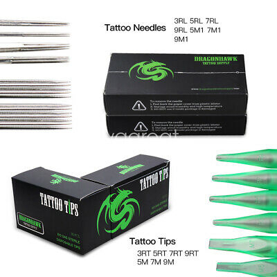 100 Pieces Mixed Tattoo Needles 100 W COUNTS OF ASSORTED TATTOO DISPOSABLE TIPS