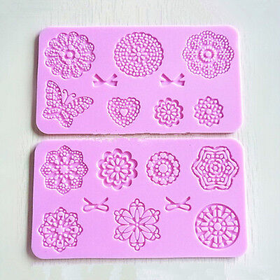 2017 Lace Butterfly Silicone Fondant Icing Mould Wedding Decoration Cake Mold