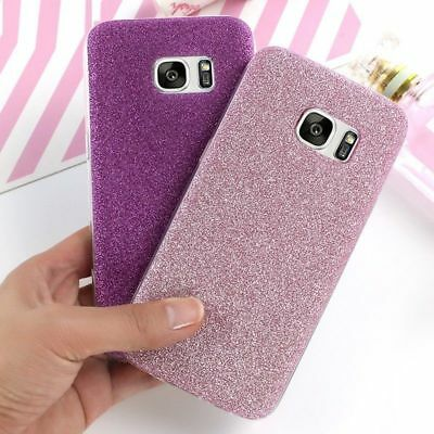 For Samsung Galaxy S8 S7 A7 J3 J5 J7 2017 Bling Glitter Soft Rubber Case Cover