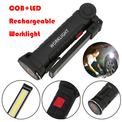 Rechargeable Magnetic Torch Flexible Inspection Lamp Cordless Worklight COB LED