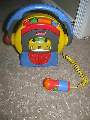 Fisher Price Tuff Stuff Cassette Tape Player Recorder Microphone karaoke records