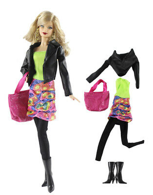 1 Set Fashion Handmade Doll Clothes Outfit for Barbie Doll P71