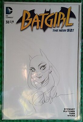DC Comics Batgirl #38 Sketch Cover Signed Babs Tarr