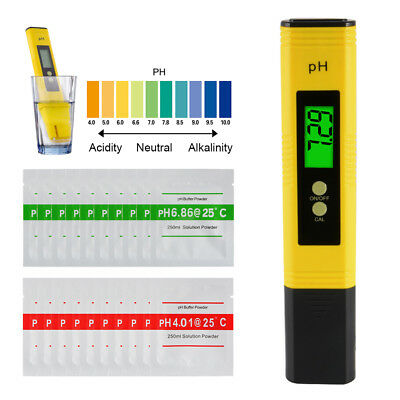 20+1 Electric PH Meter Pen Aquarium Hydroponics Water Tester w/ Solution Powder
