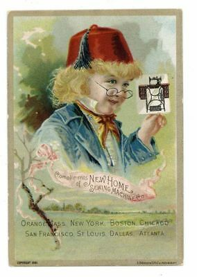 NEW HOME SEWING MACHINE CO, Victorian Trade Card, 282