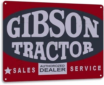 Gibson Tractor Sales Vintage Retro Tin Metal Sign