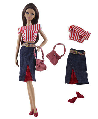 1 Set Fashion Handmade Doll Clothes Outfit for 11.5in.Doll P23