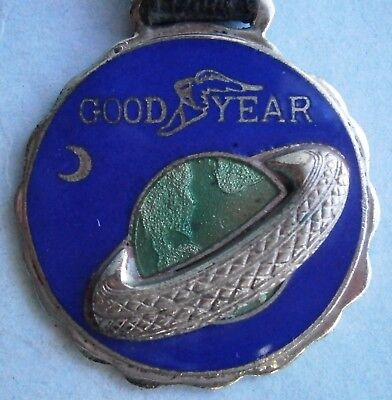 Vintage GOODYEAR Enamel Watch Fob from the early 1900's