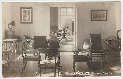 Old House Interior, Alderston, Haddington: 1920's (Est) Vintage RP PPC, G. Used.