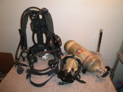 Survivair Panther SCBA Set - Harness, Mask, 45-Minute Air Tank w/ Current Hydro