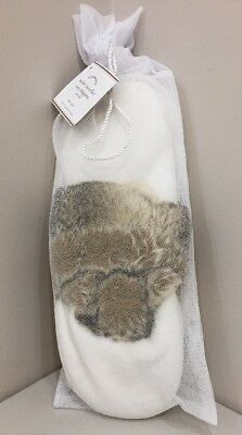 NWT Pottery Barn Ivory/Caramel Ombre FAUX FUR SLIPPERS Sz L LARGE Womens (10-11)