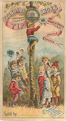 1800s Victorian Trade Card - Standard Tip Shoes For Children