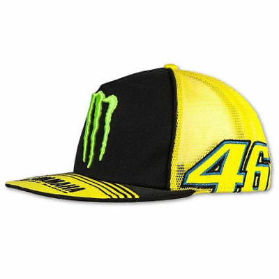 VR46 Official Valentino Rossi MotoGP Monster Energy Yamaha Trucker Cap Yellow