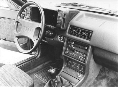 1985 Audi Quattro Front Interior ORIGINAL Factory Photo oub9247