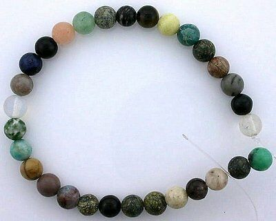 6mm Round Gemstone Gem Stone Multistone Multi Stone Beads 7 Inch Strand
