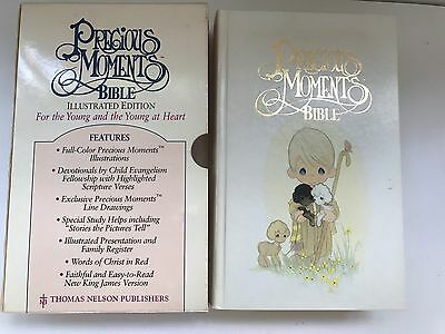 Precious Moments Holy Bible Catholic Hardcover King James Version Illustrated