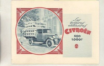 1928 ? Citroen Commercial Touring Van Pickup Truck Brochure French wy7823