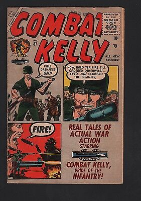 Combat Kelly #37 G/VG 3.0 Cream to Off White Pages