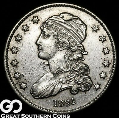 1831 Capped Bust Quarter, Very Sharp Early Silver Type ** Free Shipping!