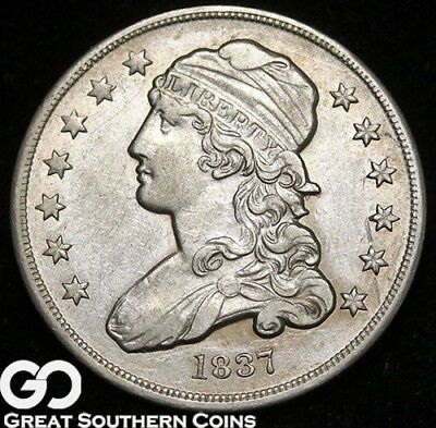 1837 Capped Bust Quarter, Tough Uncirculated Early Silver ** Free Shipping!