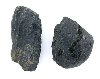 22.9 Grams Two Quality Natural Tektite Meteorite Crystal Specimen t2