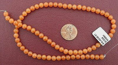 6mm Round Red Aventurine Gem Stone Gemstone Bead 15 Inch Strand