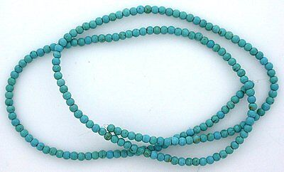 2mm Round Turquoise Color Magnesite Gemstone Beads 15 Inch Strand mb145