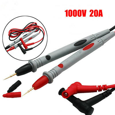 1000V 20A Electrical 90cm Cable Multimeter Test Leads Tipped Probe Needle