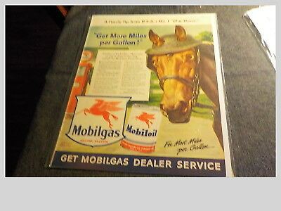 1942 Vintage Advertisement For Mobiloil and Mobilgas With A Timely Tip From The