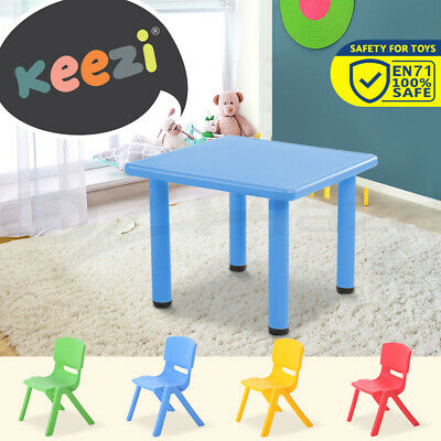 Kids Table and Chairs Children Plastic Furniture Play Outdoor Colour 3/5pc Set