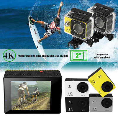 Waterproof H9 2.0 Inch LCD 4K HD WiFi Sports DV Action Camera 16MP Camcorder