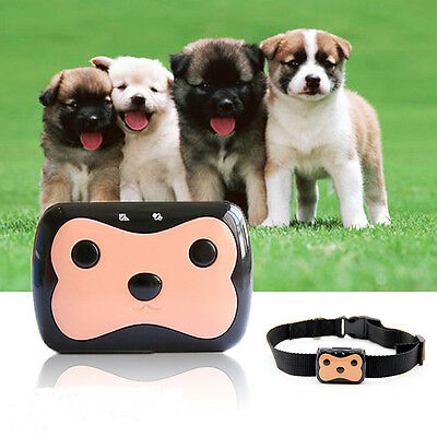 Pet Dog Cat GPS Tracker GSM Realtime Tracking Collar Waterproof Rechargeable