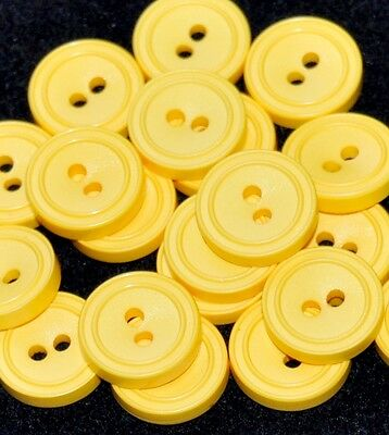 mercerie lot de 5 boutons ronds jaune orangé 13mm button