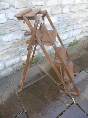 Vintage Pine Step Ladders- Stripped, Polished.  Strong + Sturdy.
