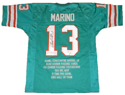 9408076f7 Dan Marino Signed Autographed Miami Dolphins  13 Stat Jersey Jsa