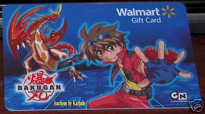 WalMart Bakugan Cartoon 2009 Gift Card Collectible VL-8877