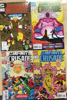 THE INFINITY CRUSADE set (6) issues #1-2-3-4-5-6 (1993) Marvel Comics Thanos FN