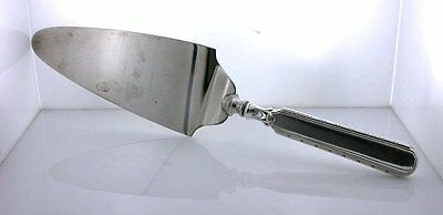 Old Antique Sterling Silver Weighted Handle Stainless Blade Cake Server