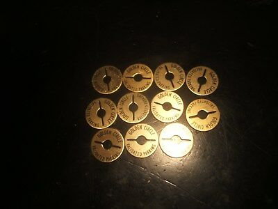 12 Golden Circle Validated Parking Tokens - OKLAHOMA CITY , OKLAHOMA  1960's