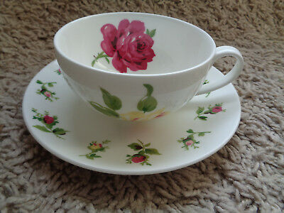 LAURA ASHLEY BONE CHINA CUP AND SAUCER Rose and carnation design